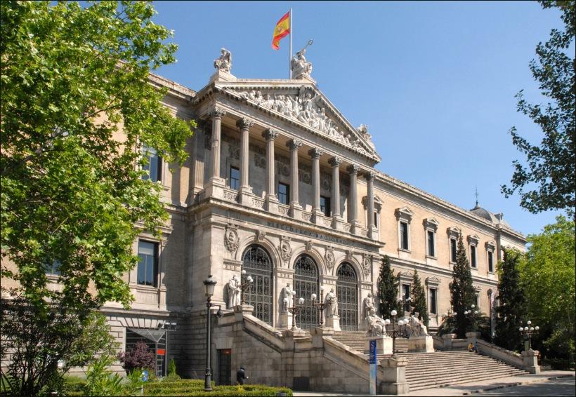 Bella fachada de la BNE fundada por Felipe V en 1712